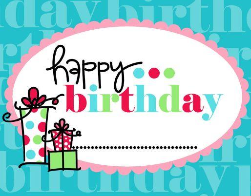happy birthday printable | Happy Birthday tags via Janna Wilson