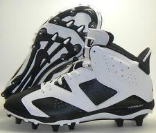 Michael Jordan Football Cleats | Nike Air Jordan Retro 6 TD Football Cleats 645419-110 Oreo Black White ...