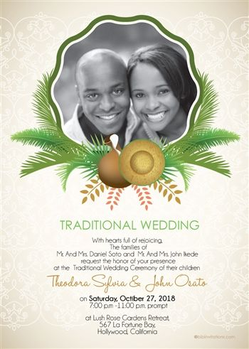 Now You Can Add A Personal Touch To Your African Wedding Invitation By Using Own Photo