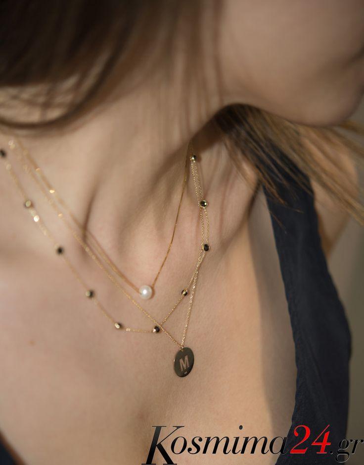 Μοναδικά σχέδια σε χρυσά κολιέ 14 καρατίων, φορέστε πολλά μαζί και ξεχωρίστε..    #kosmima24 #necklace #gold14k #gold #pearl #monogramma #newcollection #Summer2017 Δείτε εδώ τα χρυσά κολιέ 14 καρατίων της φωτογραφίας: https://goo.gl/4SYsOG https://goo.gl/ewRh41 https://goo.gl/k7Cg1k Για περισσότερα κολιέ:  https://goo.gl/JpbZi2