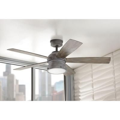 home decorators collection 52 in indooroutdoor weathered gray ceiling fan - Home Decorators Collection Lighting
