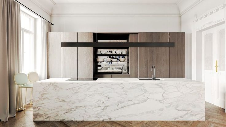 Image result for white scandinavian marble kitchen