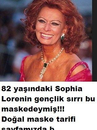 Sophia lorenin gençlik maskesi tarifi.Ünlü yıldız Sophia Loren 82 yaşında olmasına rağmen hala çok güzel ve yaşını hiç göstermeyen bayanlardan geçenlerde katıld