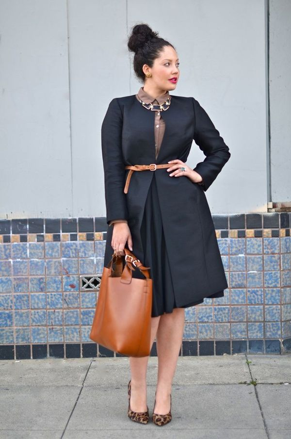 Loving this belted coat! 50 Dynamic Plus Size Outfits and Ideas