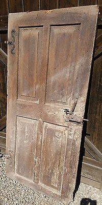 Türblatt antik mit Barock Beschlägen & Schloß alte Türe Holztüre 174x83cm