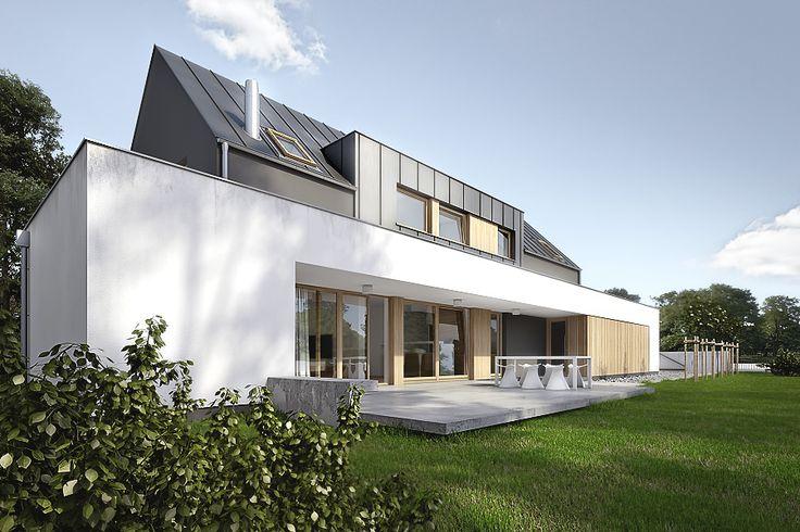 Projekt domu jednorodzinnego w Tulcach | Architekt: biuro Poznań - projekt nowoczesnego domu pasywnego, projekty biur i wnętrz.