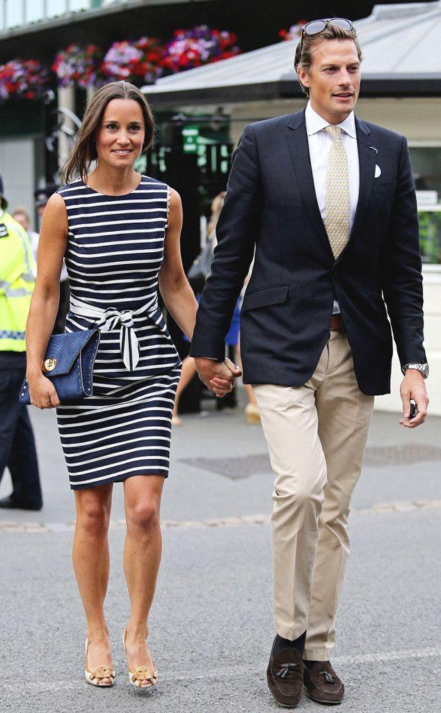 Pippa Middleton and Boyfriend Nico Jackson Hold Hands at Wimbledon