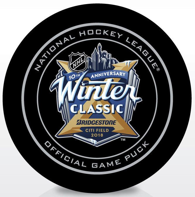 2018 NHL Winter Classic Official Game Puck New York Rangers vs Buffalo Sabres #NewYorkRangersatBuffaloSabres