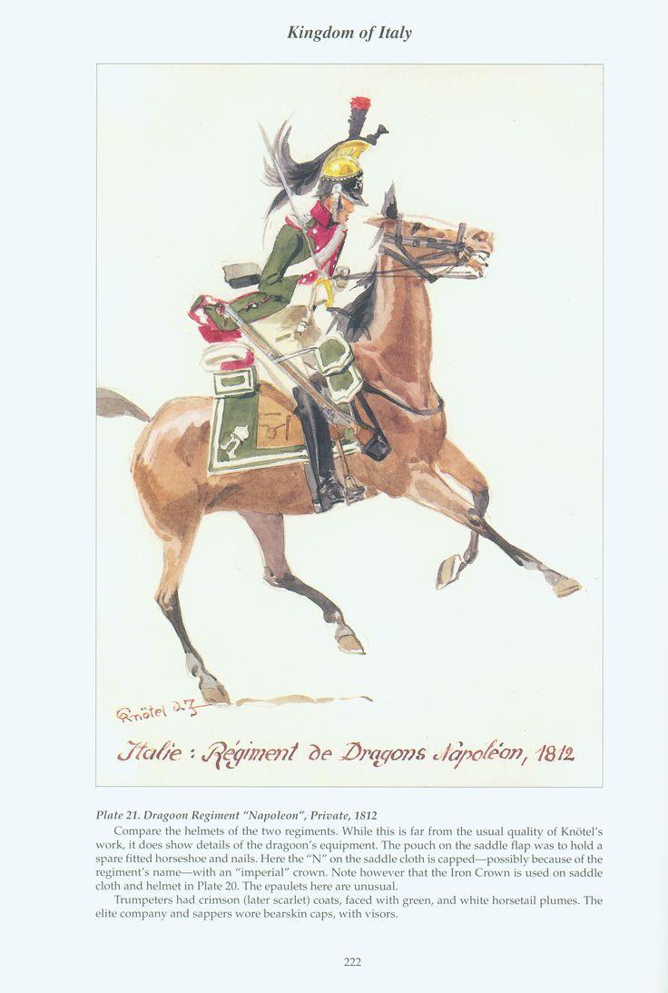 "Kingdom of Italy: Plate 21: Dragoon Regiment ""Napoleon"", Private, 1812"
