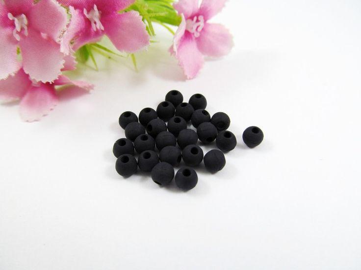 10 Polarisperlen 4 mm matt in schwarz von Schmuckes von der Perlenbraut auf DaWanda.com