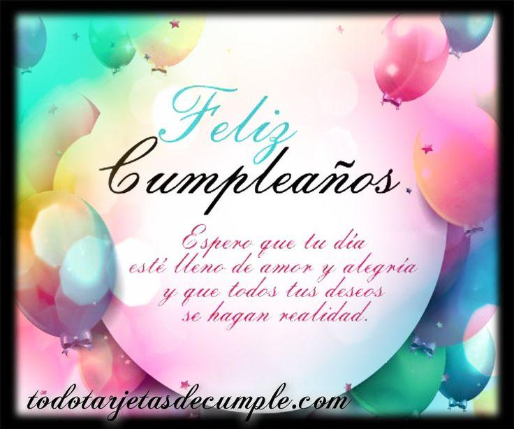 tarjeta de feliz cumpleaños con frase