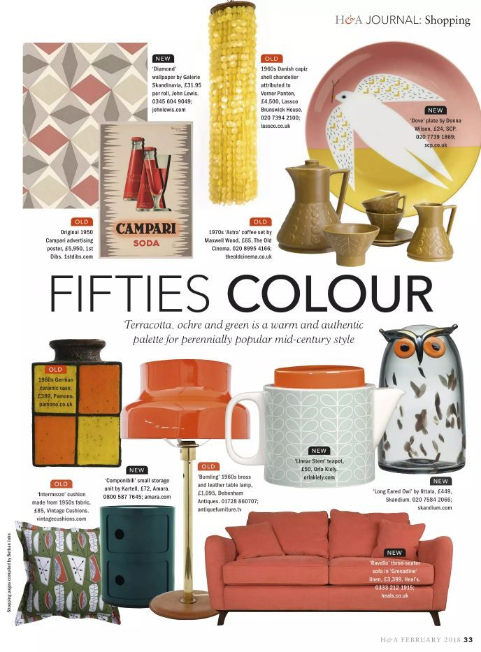Homes and Antiques trend 2018