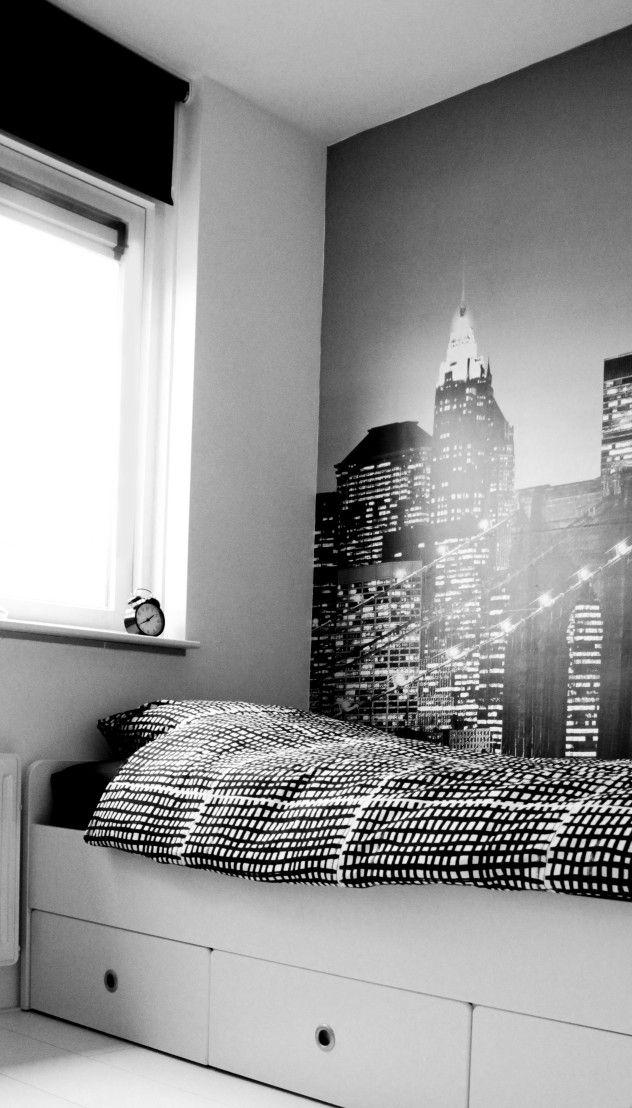 slaapkamer jongens wit zwart grijs