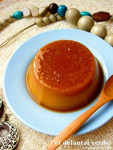 Receta de Flan de Calabaza  (sin huevos ni leche)
