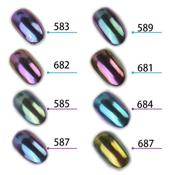 1g/box Shinning Mirror Nail Glitter Powder Gorgeous Nail Art Chrome Pigment Glitters Dust Nail Art Decorations