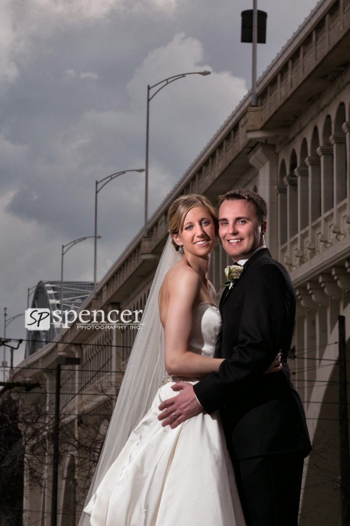 Cute wedding portrait in the cleveland flats