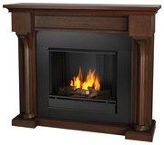 Real Flame - Verona Gel Fireplace - Chestnut Oak