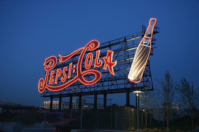 Pepsi-Cola sign, Long Island, NY...  long island city was where Pepsi warehouse was... my uncle started there in 1955 and retired in 2000 ... he was a lifer.... not jobs like this today...2013..