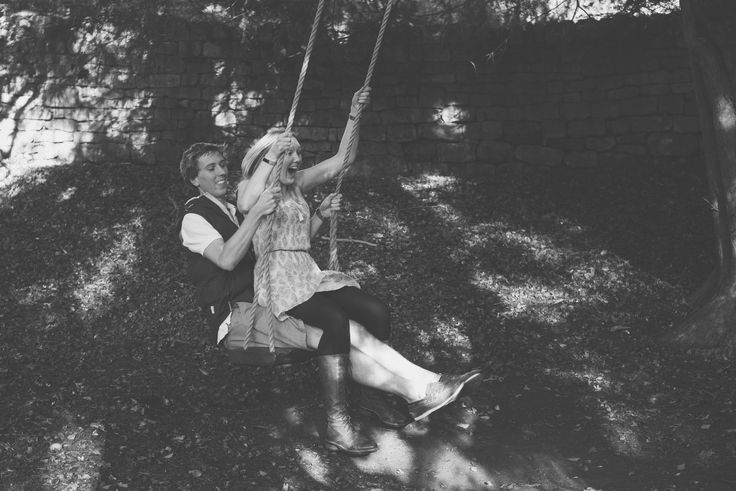 On the swing!  Engagement at Prior Park in Bath  Bex & Adam // Black and white photography // Matt Fox Photography - blog