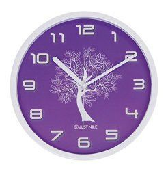 Purple wall art is funky, cute and currently trendy.  You can see how popular purple home wall art décor  is on home décor shows on TV, Online and even in your own community.  Additionally purple wall art is truly  charming and pretty.  #purple       JustNile Silent Modern Creative Wall Clock - 13-inch Purple W/ White Tree (Mother's Day Gift Idea For Mom)