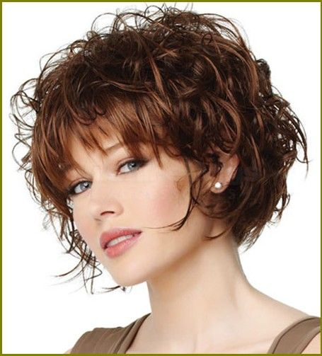 Exclusive Shirt Curly Hairstyles With Bangs - HairzStyle.Com ...