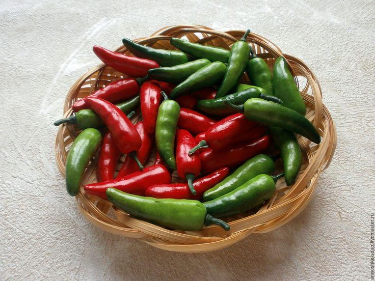 Купить Перец горький, 35 мм, топиарий, декор, пенопласт, 10 шт. - фрукты