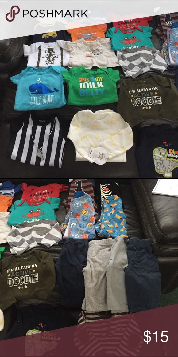 Baby Bot Lot. tons of clothes. will separate! no rips or stains. lots of different brands. some nwt Shirts & Tops