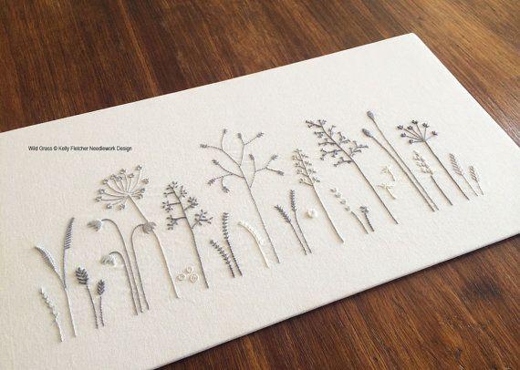 Wild Grass modern hand embroidery pattern von KFNeedleworkDesign