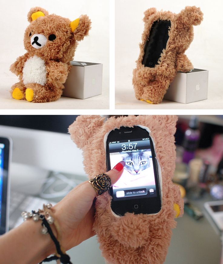 Rilakkuma plush bear iPhone Case..BY FAR THE BEST CASE EVER :)