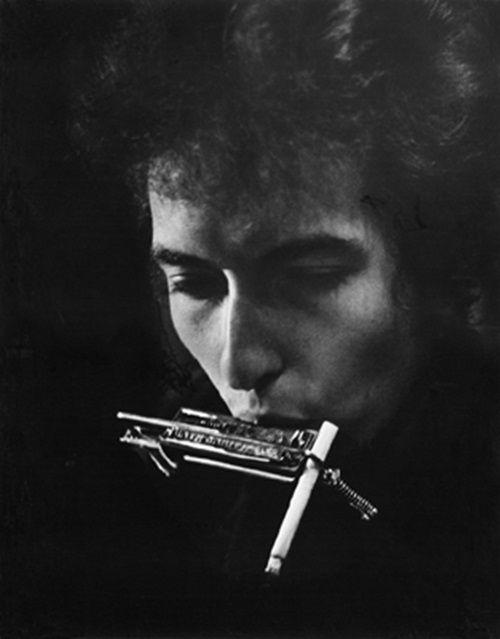 Daniel Kramer Bob Dylan With Cigarette in Harmonica Holder, Philadelphia, PA late September, 1964