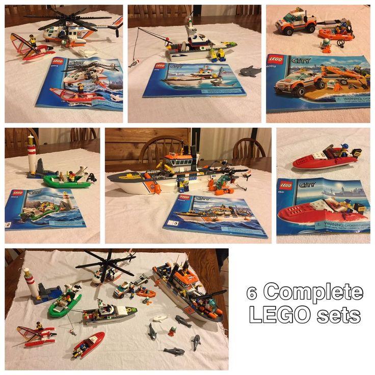 City Lego Coast Guard LOT Sets 4641, 60012, 60013, 60014 (3 In 1 Set)  #Lego