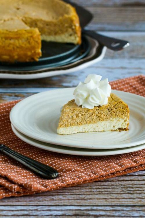 low sugar pumpkin cheesecake pie recipe for a thanksgiving dessert ...