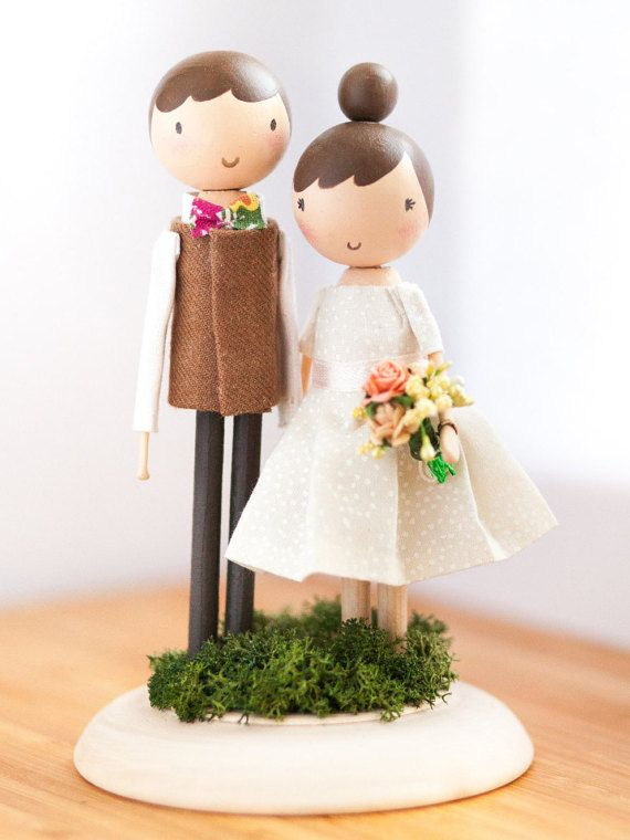 Wedding Cake Topper/Cake Topper/Wooden Topper/Wedding by theroomba