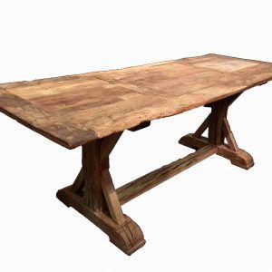 Antique Farmhouse Trestle Table