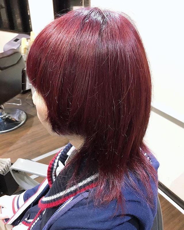 福田翔さんはinstagramを利用しています Wine Red Hair Color
