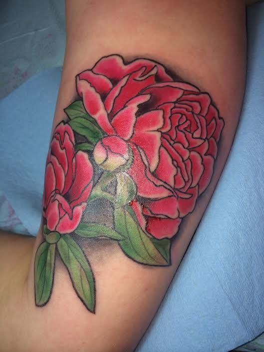 Tattoo in Seattle WA flowers tattoo botanical tattoo peonies tattoo ...