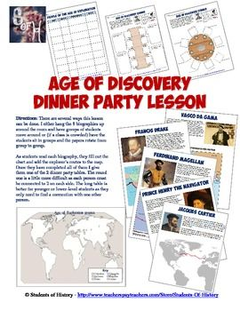 This wonderful interactive lesson plan on the Age of Discovery (or Age of Exploration) features 8 short readings on major figures of the period along with maps and pictures.