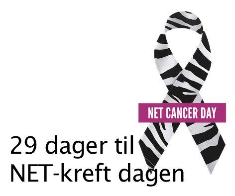 """NET-kreftdagen 10. november.  Den internasjonale dagen for opplysning om NET-kreft, """"NET Cancer Day"""" blir arrangert 10. november hvert år. Dagen arrangeres for å øke oppmerksomheten, og skape bevissthet om nevroendokrin (NET) kreft.  Les mer http://www.carcinor.no/index.php/den-internasjonale-net-kreft-dagen"""