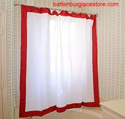 New Style. Shower Curtains with Red color border.