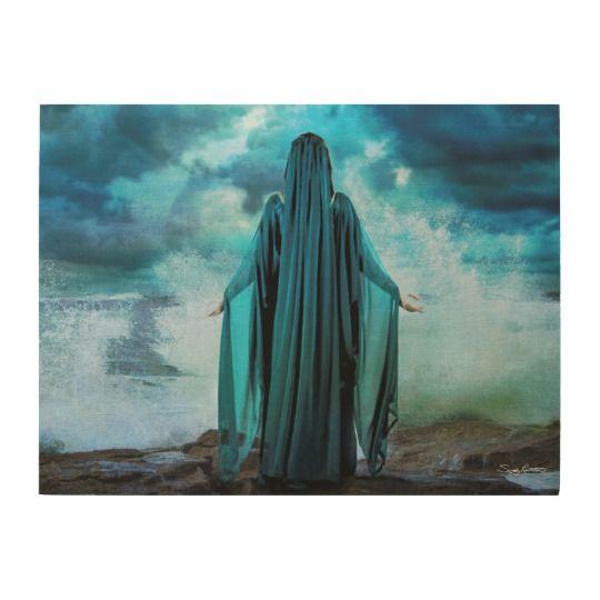 Celtic Goddess Cessair Wood Fine Art Print