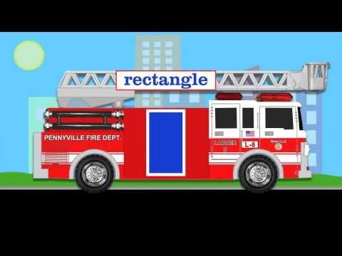 Fire Trucks Teaching Shapes - Learning Basic Shapes Firetruck Video for Kids - YouTube