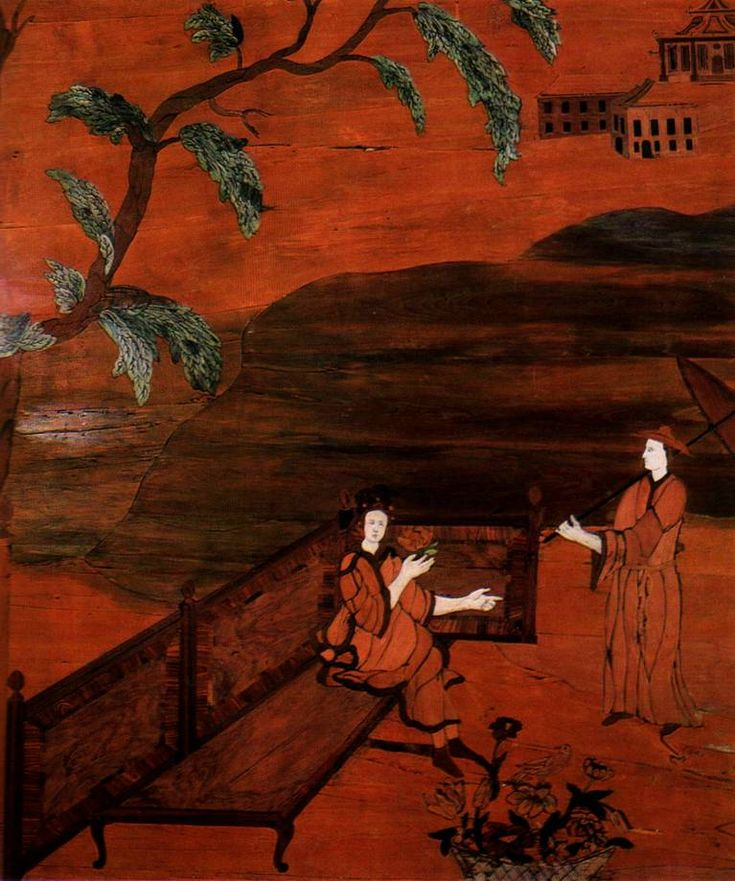 Oranienbaum. Ораниенбаум. Китайский дворец. Китайский кабинет. китайское панно
