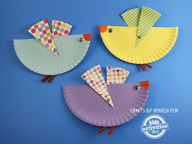 Paper Plate Birds With Movable Wings Craft PapersToddler ActivitiesCrafts