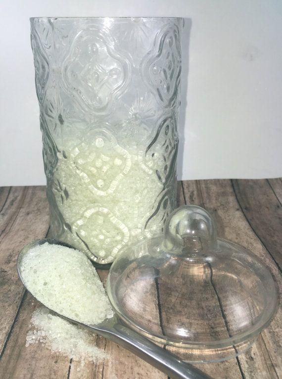 Eucalyptus & Tea Tree Oil Bath Salt, Eucalyptus Bath Salt, Tea Tree Oil Bath Salt, All Natural Bath Salt, Detox Bath Salt, 8 oz Bag