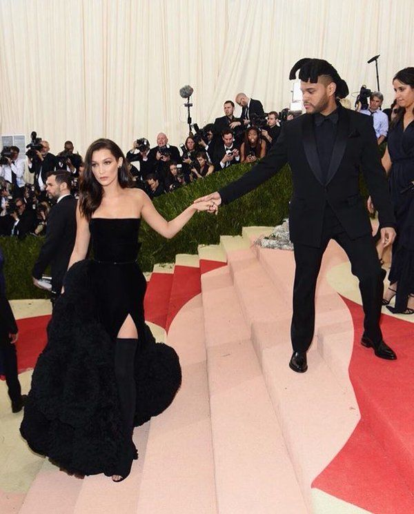 Bella Hadid and Abel Tesfaye The Weeknd at Met Gala 2016.