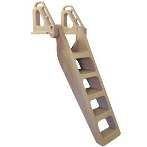 Tommy Docks 5 Step Wide Flip Up Polyethylene Dock Ladder