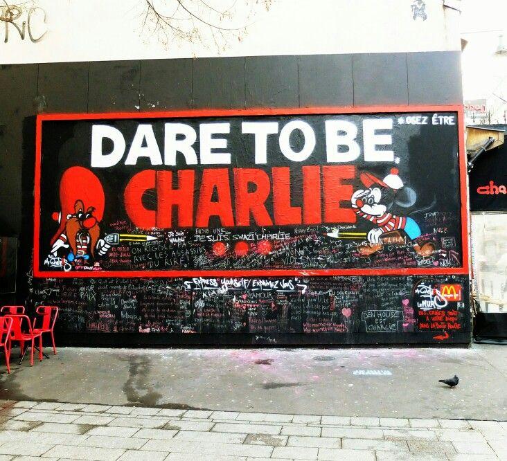 Mr one teas - street art paris 11 - rue oberkampf, janvier 2015 - charlie hebdo