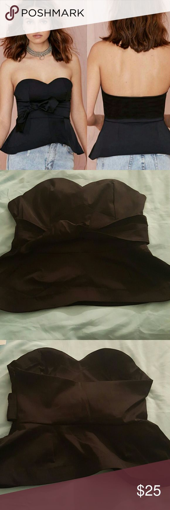 Sale Nasty gal night owl bustier Nwot black strapless bustier smoke free pet free home.  Pair this, with a cute pair of jeans and some hot pumps... for a night on the town with your friends. Nasty Gal Intimates & Sleepwear Bandeaus