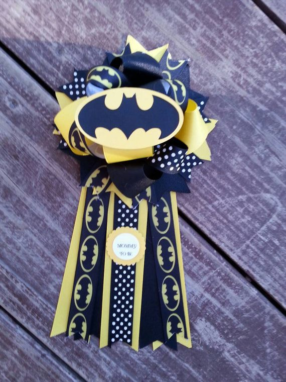 Check out this item in my Etsy shop https://www.etsy.com/listing/261502554/batman-baby-shower-mum