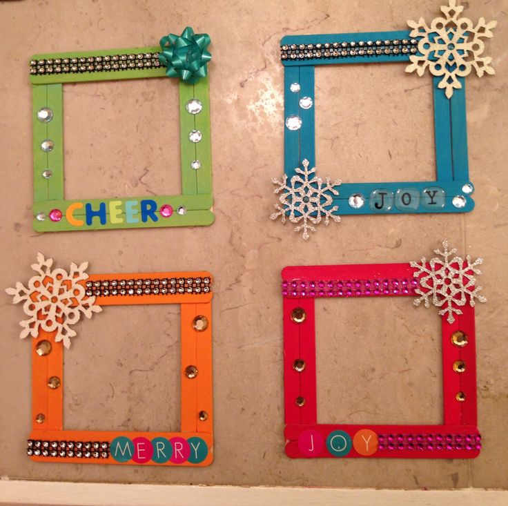 Xmas Popsicle stick frames!! I made these!! @jsigler crafts follow me!
